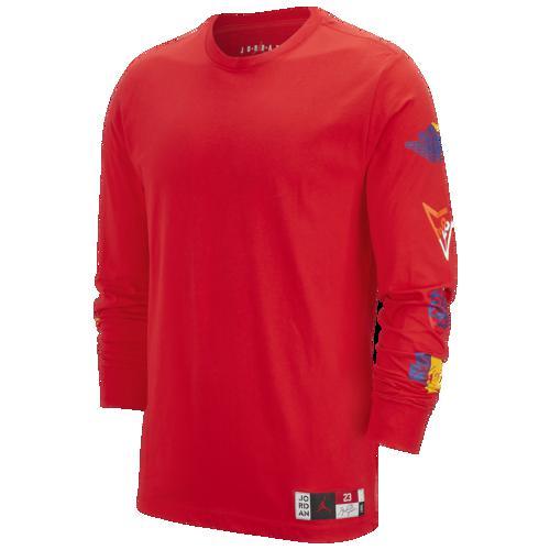【エントリーでポイント10倍】(取寄)ジョーダン メンズ スポーツ DNA HBR ロング スリーブ クルー Tシャツ Jordan Men's Sport DNA HBR Long Sleeve Crew T-Shirt University Red