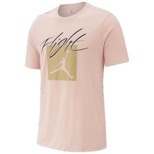 (取寄)ジョーダン メンズ ジャンプマン フライト クルー Tシャツ Jordan Men's Jumpman Flight Crew T-Shirt Coral Stardust