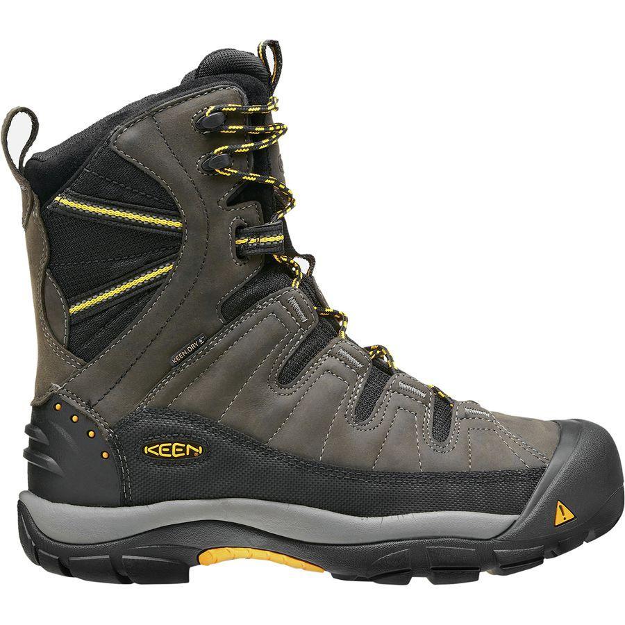 【マラソン ポイント10倍】(取寄)キーン メンズ サミット カウンティ ブーツ KEEN Men's Summit County Boot Dark Shadow/Yellow