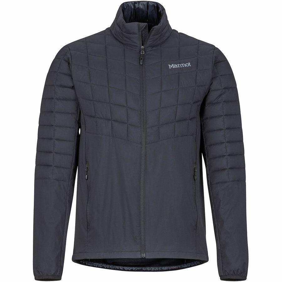【クーポンで最大2000円OFF】(取寄)マーモット メンズ フェザーレス ハイブリッド インサレーテッド ジャケット Marmot Men's Featherless Hybrid Insulated Jacket Black
