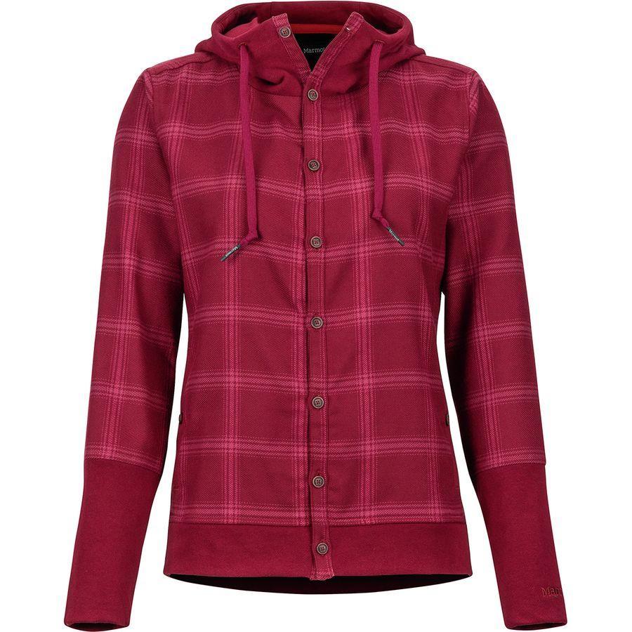 (取寄)マーモット レディース ストー ヘビーウェイト フランネル ジャケット Marmot Women Stowe Heavyweight Flannel Jacket Claret