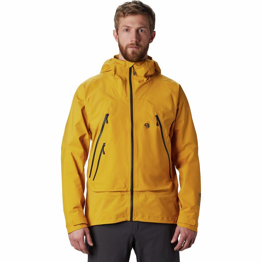 【クーポンで最大2000円OFF】(取寄)マウンテンハードウェア メンズ ハイ エクスポーザー Gore-TexC-Knit ジャケット Mountain Hardwear Men's High Exposure Gore-Tex C-Knit Jacket Gold Hour