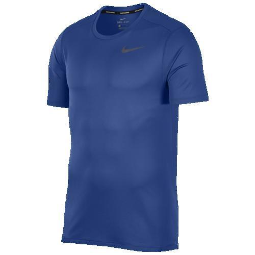 (取寄)ナイキ メンズ ブリーズ ラン ショート スリーブ Tシャツ Nike Men's Breathe Run Short Sleeve T-Shirt Indigo Force Reflective Silver