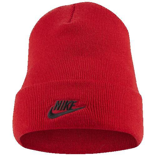 (取寄)ナイキ メンズ ニット帽 カフド ユーテリティ ビーニー 帽子 Nike Men's Cuffed Utility Beanie University Red Black
