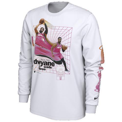 (取寄)ナイキ メンズ NBA タイム ワープ Tシャツ マイアミ ヒート Nike Men's NBA Time Warp T-Shirt マイアミ ヒート White