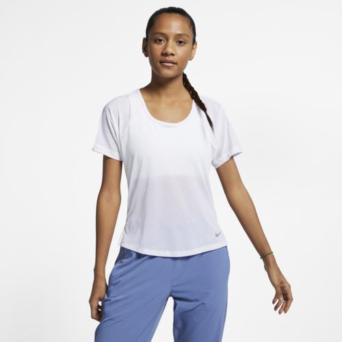 (取寄)ナイキ レディース ミラー ブリーズ ショート スリーブ トップ Nike Women's Miler Breathe Short Sleeve Top White Reflective Silver