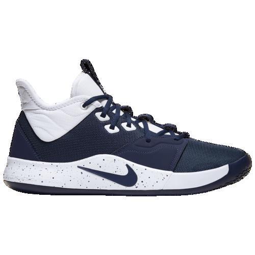 【クーポンで最大2000円OFF】(取寄)ナイキ メンズ バッシュ PG 3 ポールジョージ バスケットボール シューズ Nike Men's PG 3 Midnight Navy White