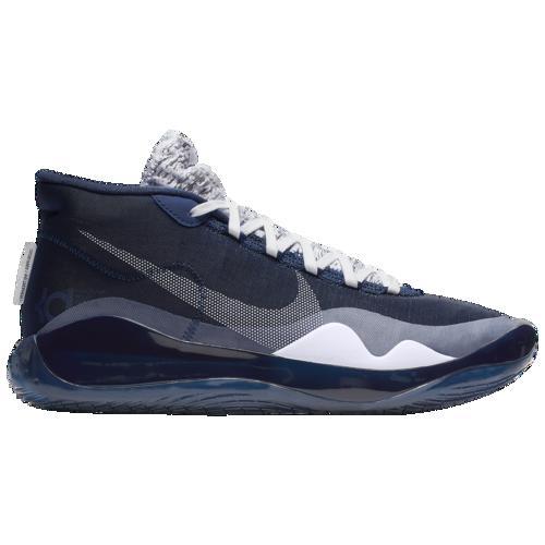 【マラソン ポイント10倍】(取寄)ナイキ メンズ バッシュ ズーム KD12 ケビン デュラント バスケットボール シューズ Nike Men's Zoom KD12 Midnight Navy White