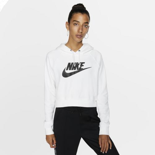 (取寄)ナイキ レディース パーカー エッセンシャル クロップ フーディ Nike Women's Essential Crop Hoodie White Black