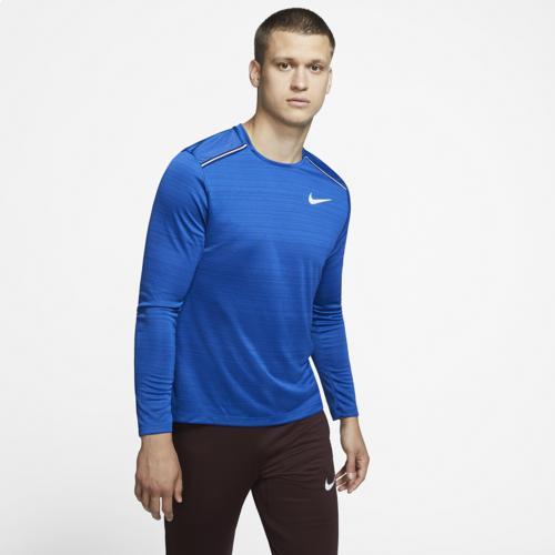 (取寄)ナイキ メンズ ドライ ミラー ロング スリーブ トップ Nike Men's Dry Miler Long Sleeve Top Indigo Blue Void Reflective Silver