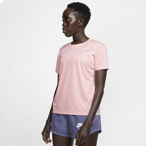 (取寄)ナイキ レディース ミラー ショート スリーブ トップ Nike Women's Miler Short Sleeve Top Echo Pink Echo Pink Reflective Silver