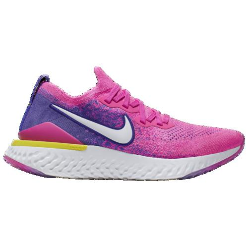 (取寄)ナイキ レディース エピック リアクト フライニット 2 Nike Women's Epic React Flyknit 2 Laser Fuchsia White Yellow Pulse Psychic Purple