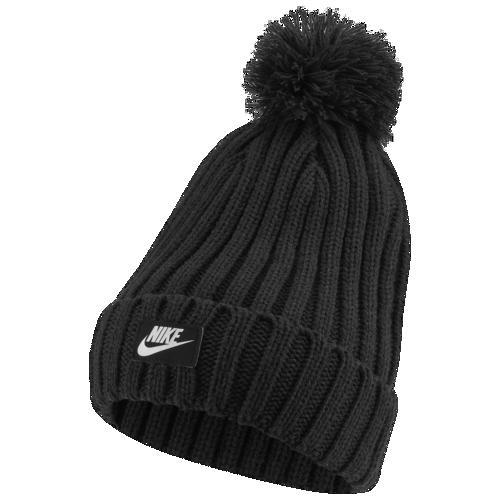 (取寄)ナイキ メンズ ニット帽 カフド ポム ビーニー 帽子 Nike Men's Cuffed Pom Beanie Black White