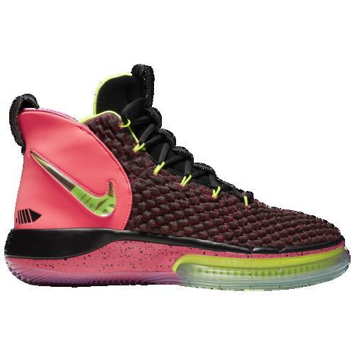 【マラソン ポイント10倍】(取寄)ナイキ メンズ バッシュ アルファダンク バスケットボール シューズ Nike Men's AlphaDunk Racer Pink Volt Black
