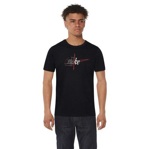 (取寄)ナイキ メンズ ストーリー オブ ザ スウッシュ Tシャツ Nike Men's Story Of The Swoosh T-Shirt Black