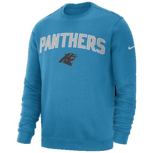 (取寄)ナイキ メンズ トレーナー NFL クラブ フリース クルー プルオーバー カロライナ パンサーズ Nike Men's NFL Club Fleece Crew Pullover カロライナ パンサーズ Tidal Blue