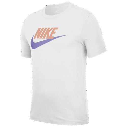 (取寄)ナイキ メンズ アイコン フューチュラ Tシャツ Nike Men's Icon Futura T-Shirt White Pink Quartz Medium Volt