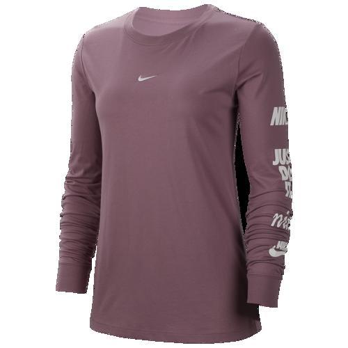 (取寄)ナイキ レディース グラフィック ロング スリーブ Tシャツ Nike Women's Graphic Long Sleeve T-Shirt Plum Dust