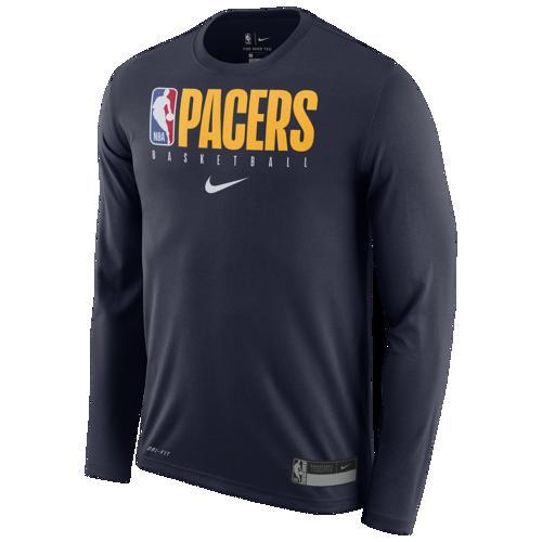 (取寄)ナイキ メンズ NBA グラフィック プラクティス ロングスリーブ Tシャツ インディアナ ペイサーズ Nike Men's NBA Graphic Practice L/S T-Shirt インディアナ ペイサーズ College Navy