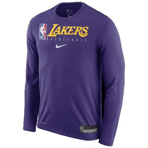 (取寄)ナイキ メンズ NBA グラフィック プラクティス ロングスリーブ Tシャツ ロス エンジェルス レイカーズ Nike Men's NBA Graphic Practice L/S T-Shirt ロス エンジェルス レイカーズ Court Purple