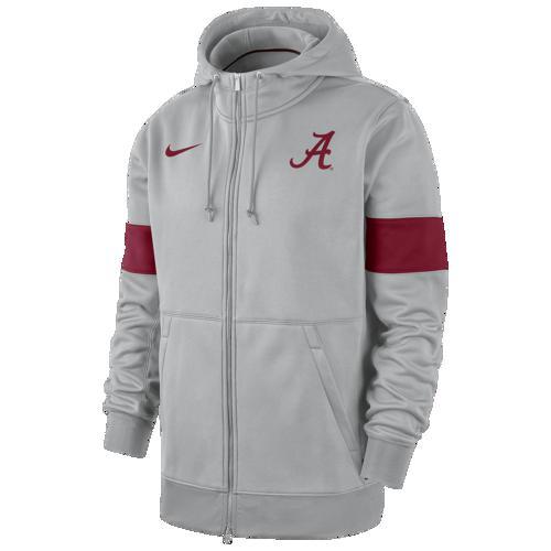【エントリーでポイント10倍】(取寄)ナイキ メンズ パーカー カレッジ サーマ フルジップ フーディ アラバマ クリムゾン タイド Nike Men's College Therma Full-Zip Hoodie アラバマ クリムゾン タイド Flint Silver