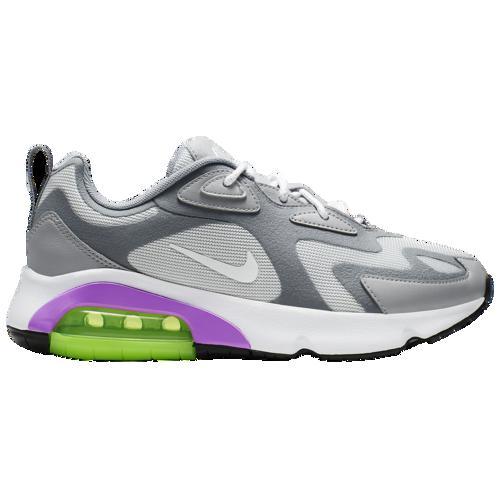 満点の (取寄)ナイキ レディース エア マックス 200 Nike Women's Air Max 200 Pure Platinum White Cool Grey Wolf Grey Purple, かわいい! 69c49fc0