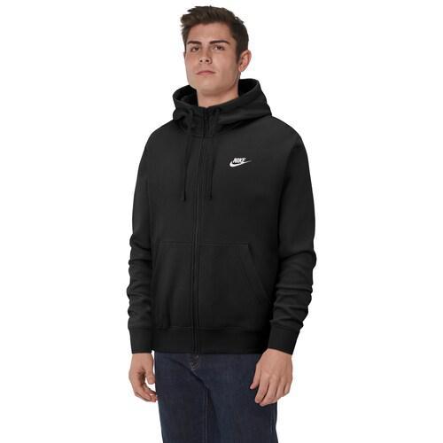 【エントリーでポイント10倍】(取寄)ナイキ メンズ パーカー クラブ フルジップ フーディ Nike Men's Club Full-Zip Hoodie Black White