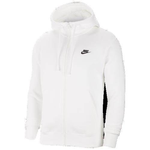 【エントリーでポイント10倍】(取寄)ナイキ メンズ パーカー クラブ フルジップ フーディ Nike Men's Club Full-Zip Hoodie White Black