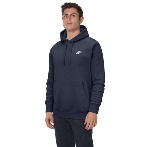 (取寄)ナイキ メンズ パーカー クラブ プルオーバー フーディ Nike Men's Club Pullover Hoodie Midnight Navy White