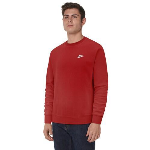 (取寄)ナイキ メンズ トレーナー クラブ クルー Nike Men's Club Crew University Red White