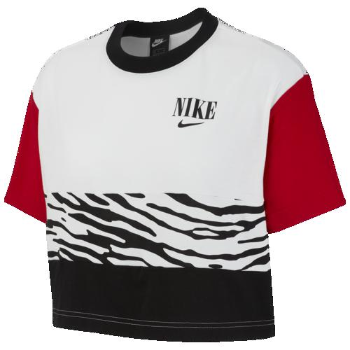 (取寄)ナイキ レディース エッセンシャル ショート スリーブ AOP トップ Nike Women's Essential Short Sleeve AOP Top White University Red Black