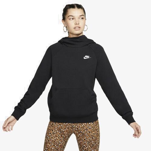(取寄)ナイキ レディース パーカー エッセンシャル ファンネル ネック プルオーバー フーディ Nike Women's Essential Funnel Neck P/O Hoodie Black White