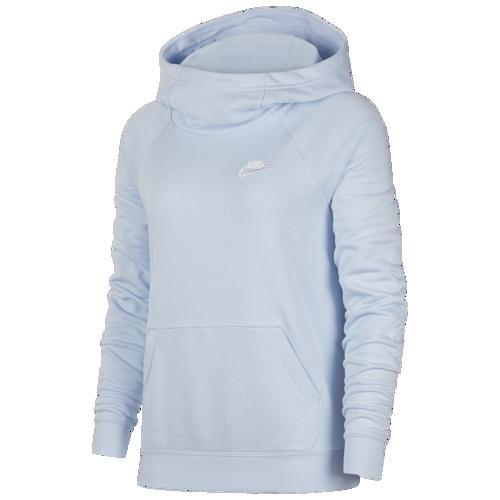(取寄)ナイキ レディース パーカー エッセンシャル ファンネル ネック プルオーバー フーディ Nike Women's Essential Funnel Neck P/O Hoodie Celestine Blue White