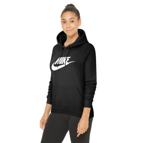(取寄)ナイキ レディース パーカー エッセンシャル プルオーバー フリース フーディ Nike Women's Essential Pullover Fleece Hoodie Black White