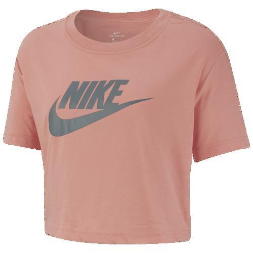 (取寄)ナイキ レディース エッセンシャル クロップ Tシャツ Nike Women's Essential Crop T-Shirt Pink Quartz