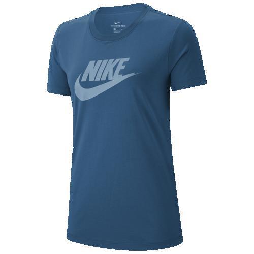 (取寄)ナイキ レディース エッセンシャル アイコン フューチュラ Tシャツ Nike Women's Essential Icon Futura T-Shirt Green Abyss