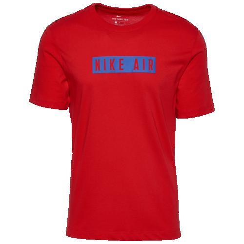 (取寄)ナイキ メンズ エア センター チェスト Tシャツ Nike Men's Air Center Chest T-Shirt University Red Game Royal