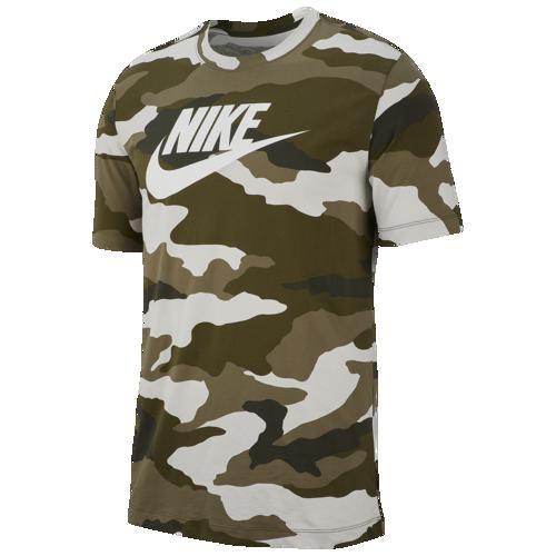 (取寄)ナイキ メンズ カモ Tシャツ Nike Men's Camo T-Shirt Light Bone Medium Olive White