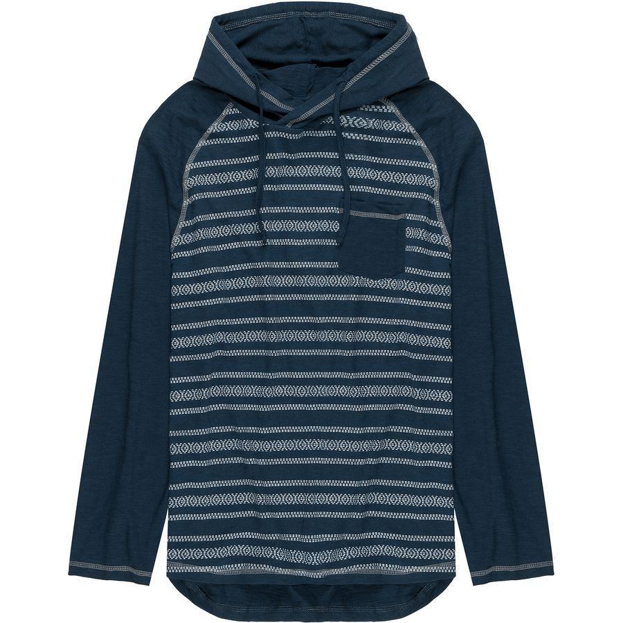 (取寄)ストイック メンズ バハ ストライプ ライトウェイト プルオーバー パーカー Stoic Men's Baja Stripe Lightweight Hoodie Pullover Blue