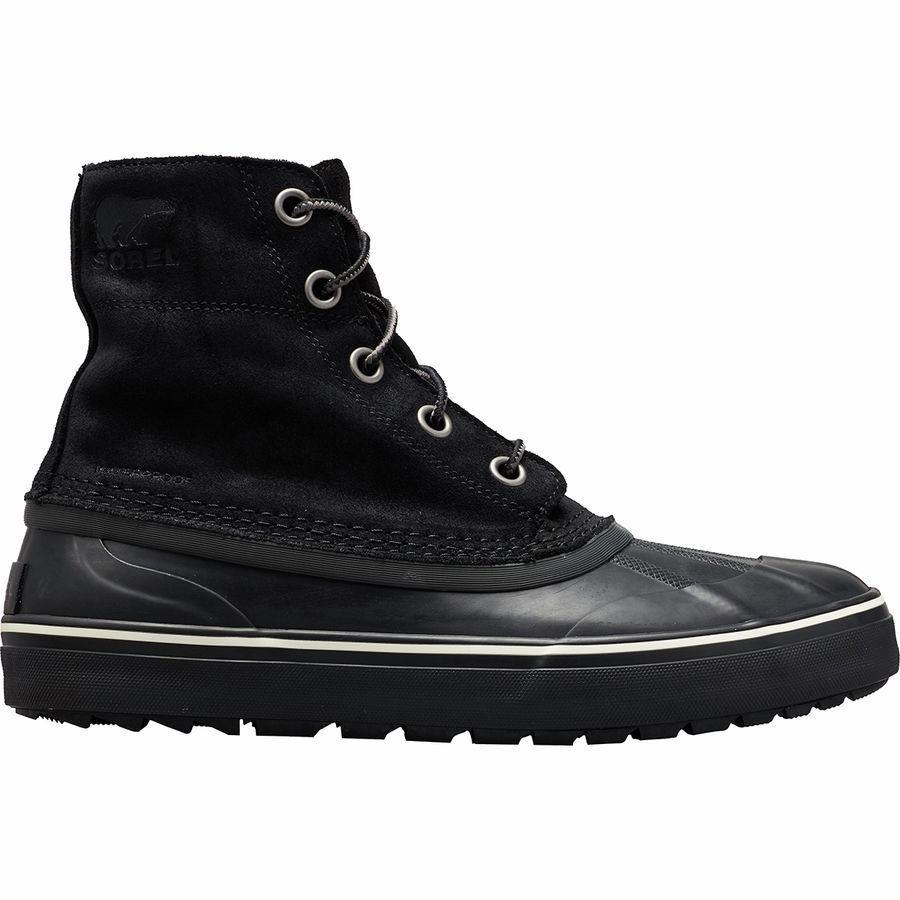 (取寄)ソレル メンズ シャイアン メトロ レース WP ブーツ Sorel Men's Cheyanne Metro Lace WP Boot Black/Black