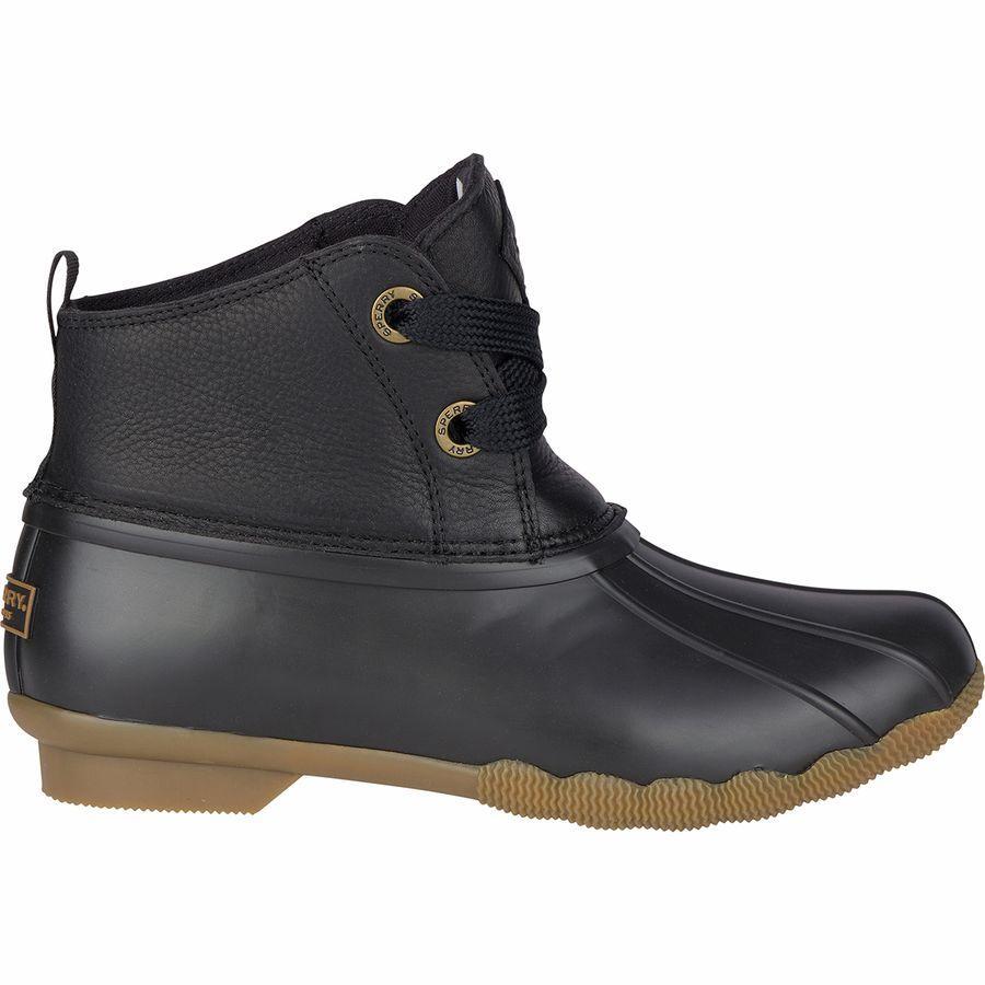 (取寄)スペリートップサイダー レディース Saltwater2-Eye ブーツ Sperry Top-Sider Women Saltwater 2-Eye Boot Black