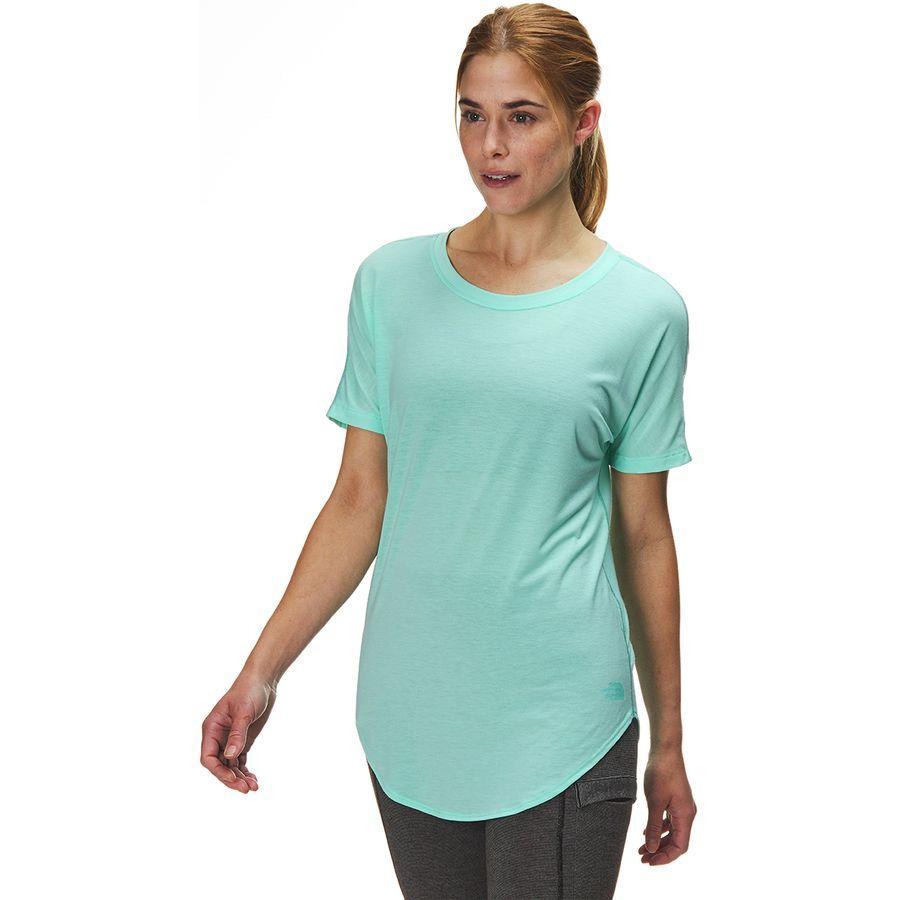 (取寄)ノースフェイス レディース ワークアウト ショートスリーブ トップ The North Face Women Workout Short-Sleeve Top Mint Blue