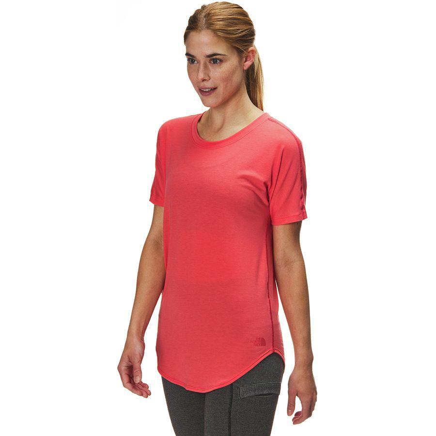 (取寄)ノースフェイス レディース ワークアウト ショートスリーブ トップ The North Face Women Workout Short-Sleeve Top Spiced Coral