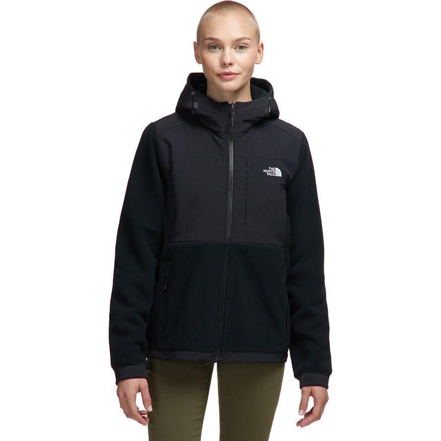 【クーポンで最大2000円OFF】(取寄)ノースフェイス レディース デナリ 2 フーデッド フリース ジャケット The North Face Women Denali 2 Hooded Fleece Jacket Tnf Black/Tnf White Logo
