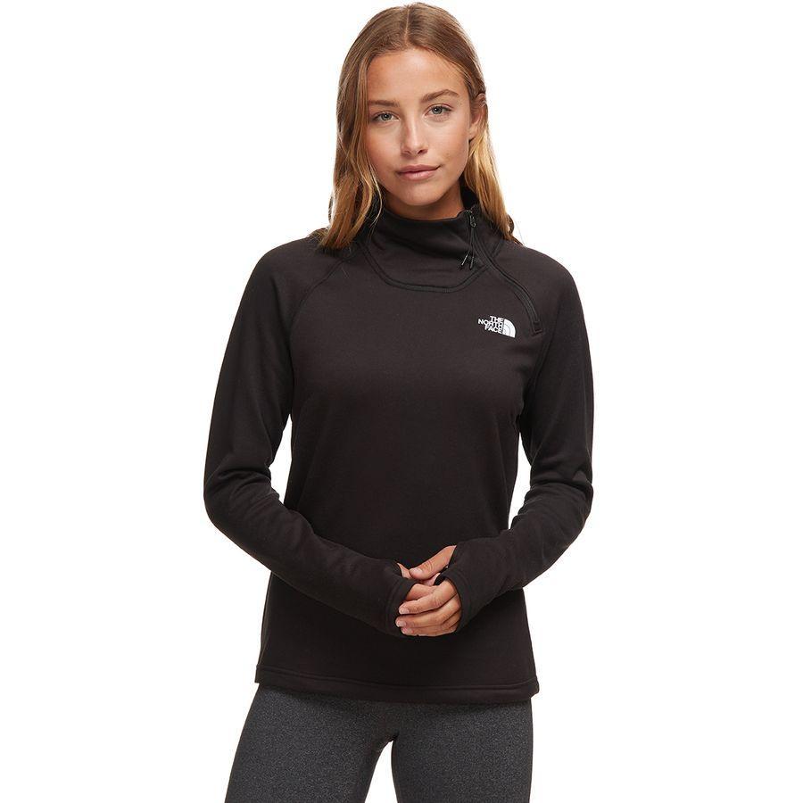 【クーポンで最大2000円OFF】(取寄)ノースフェイス レディース キャニオンランズ 1/4-Zip フリース プルオーバー The North Face Women Canyonlands 1/4-Zip Fleece Pullover Tnf Black
