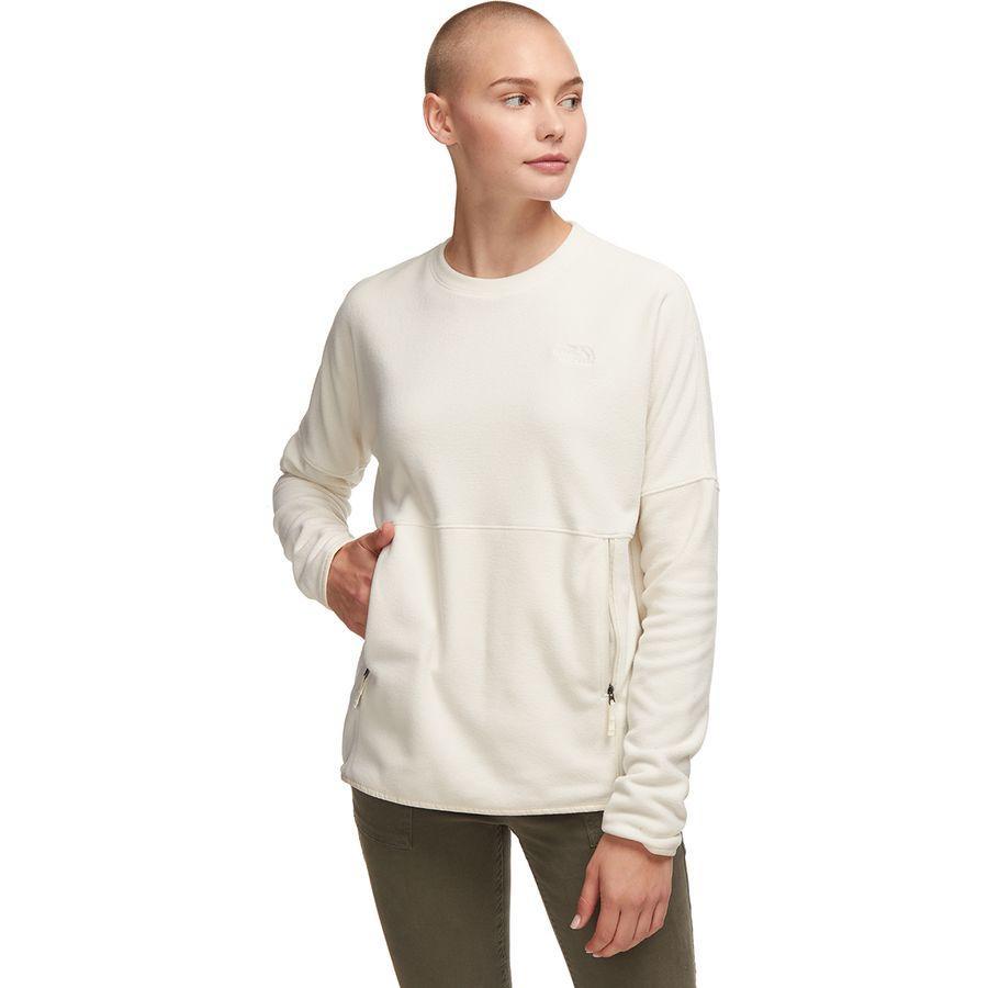 (取寄)ノースフェイス レディース TKA グレイシャー クルー フリース プルオーバー The North Face Women TKA Glacier Crew Fleece Pullover Vintage White/Vintage White