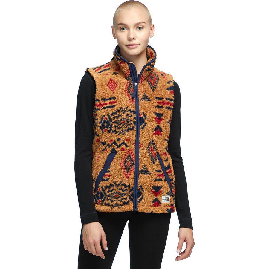 【クーポンで最大2000円OFF】(取寄)ノースフェイス レディース Campshire 2.0フリース ベスト The North Face Women Campshire 2.0 Fleece Vest Cedar Brown California Geo Print