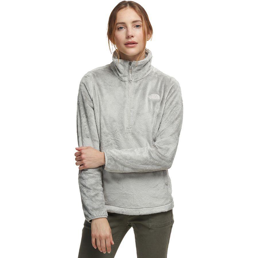 (取寄)ノースフェイス レディース Osito 1/4-Zip フリース プルオーバー The North Face Women Osito 1/4-Zip Fleece Pullover Dove Grey