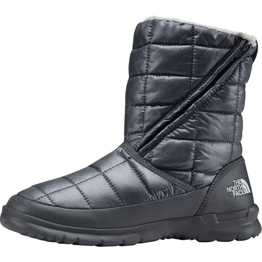 (取寄)ノースフェイス レディース サーモボール マイクロバッフル ジップ ブーティー ブーツ The North Face Women Thermoball Microbaffle Zip ie Boot Zinc Grey/Micro Chip Grey