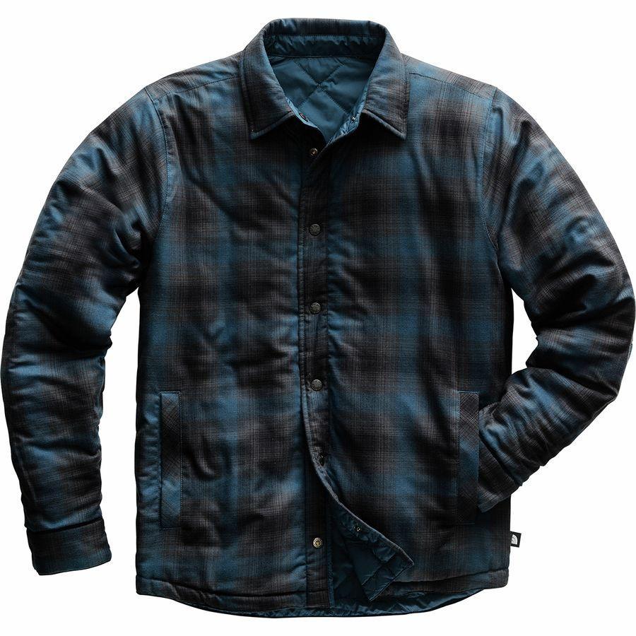 【エントリーでポイント10倍】(取寄)ノースフェイス メンズ フォート ポイント インサレーテッド フランネル ジャケット The North Face Men's Fort Point Insulated Flannel Jacket Blue Wing Teal